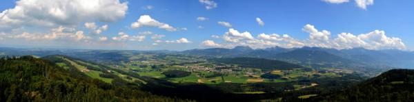 Fribourg depuis la tour Plein Ciel (Mt pelerin) - 17.08.2013