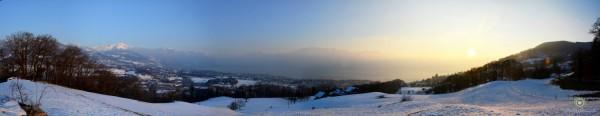 Vevey depuis les hauts - 17.02.2013