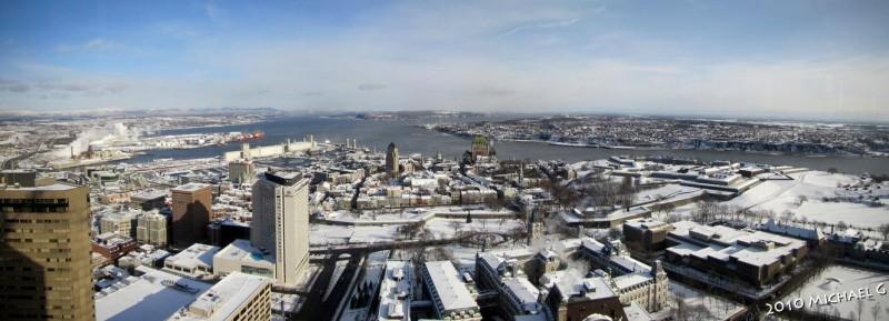 Québec ville, depuis l'observatoir de la capitale