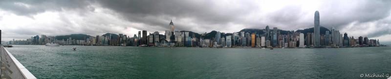 Skyline du centre de Hong Kong, pris depuis les quais de Kowloon