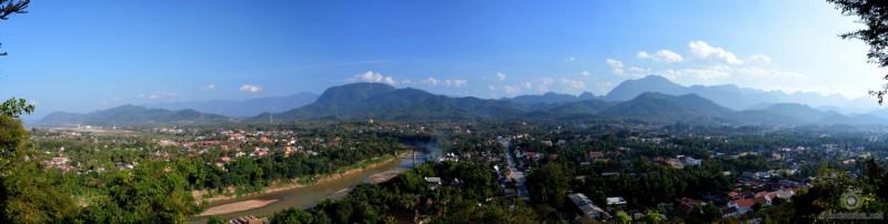 Luang Prabang depuis la colline de Phu Si