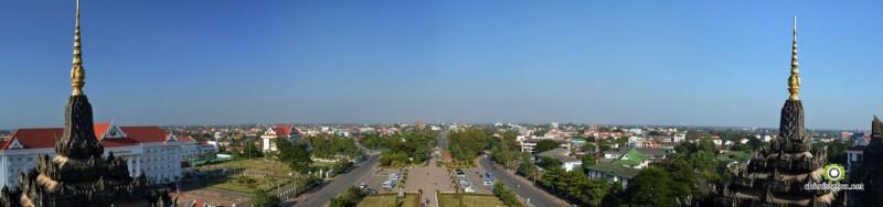 Vientiane depuis le Patuxai (arc de triomphe)