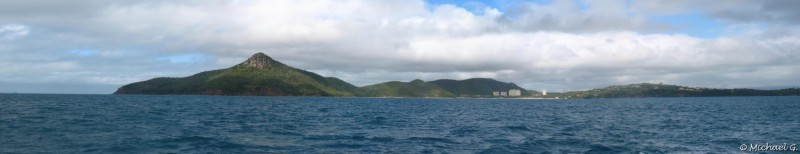 Hamilton Island from the sea - Whitsundays - Queensland