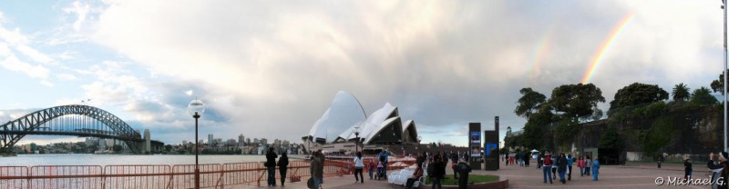 Opera House with a Rainbow ! - Sydney - New South Wales