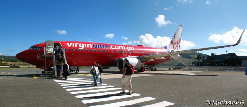 Virgin aircraft on the Hamilton's airport - Queensland