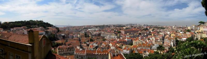 Lisbonne vu depuis le sommet de la vielle ville