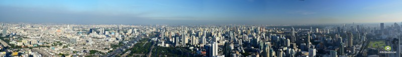 Bangkok from Baiyoke sky tower 2