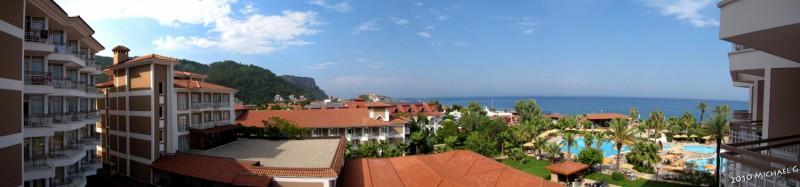 Kiriş, vue depuis notre hotel