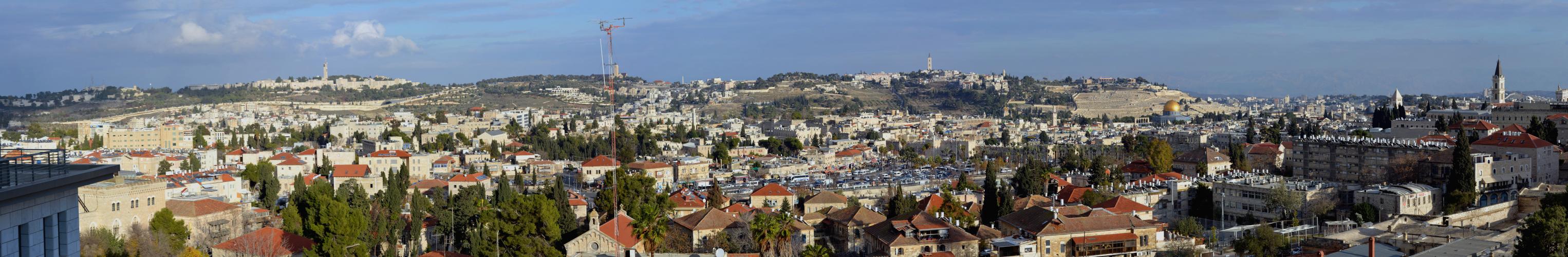 Vue sur la vieille ville et le mont des oliviers