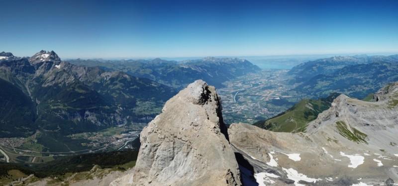 Le sommet vue sur Lausanne