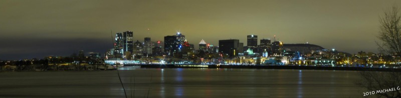Montréal, depuis l'ile de Sainte-Hélène