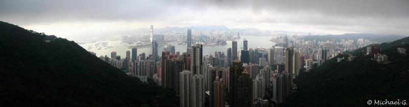 Centre de Hong Kong vue depuis le Peak