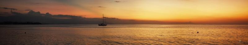 Sunset from Lovina Beach, north Bali