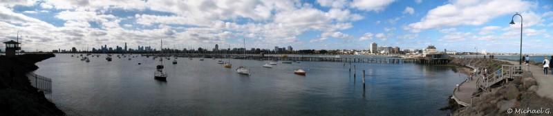 Melbourne from Ste-Kilda - Victoria